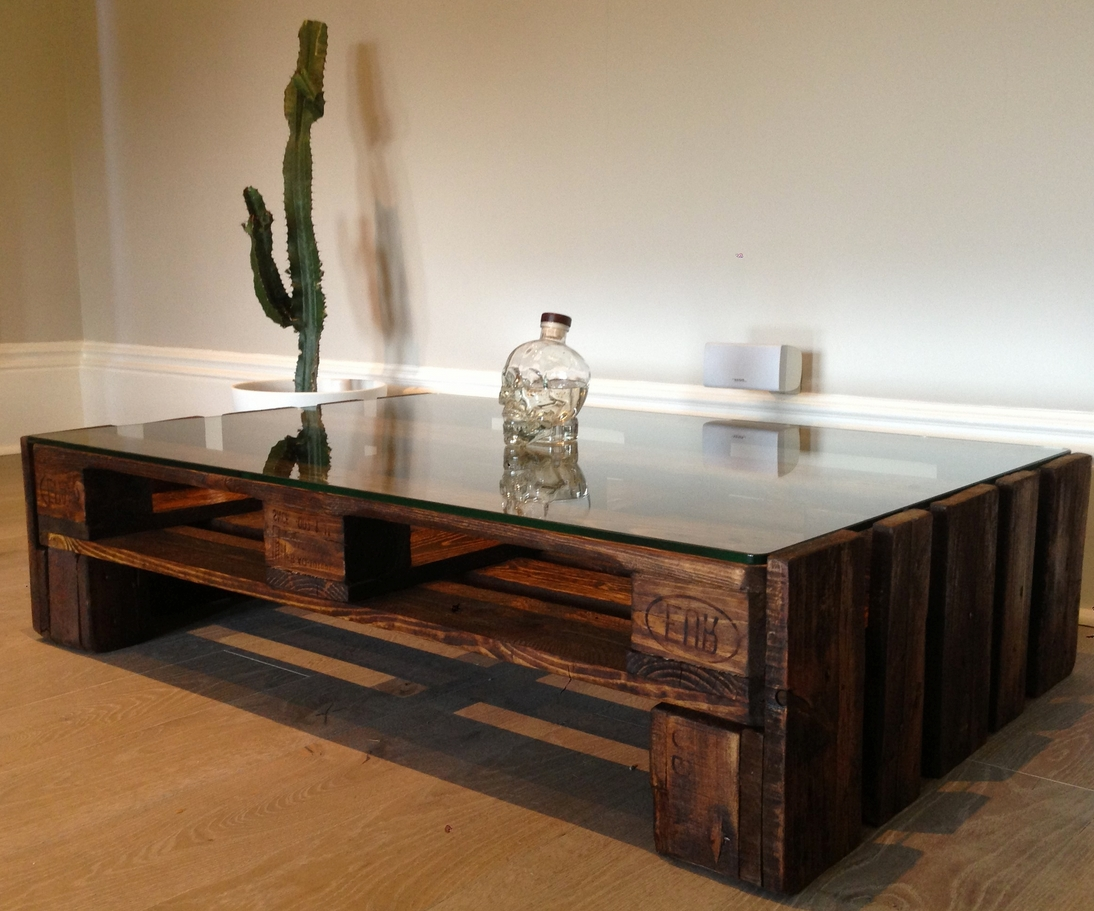 Coffee Table, Large Wood And Glass Topped Upcycled Coffee Table Within Widely Used Round Glass And Wood Coffee Tables (View 4 of 20)