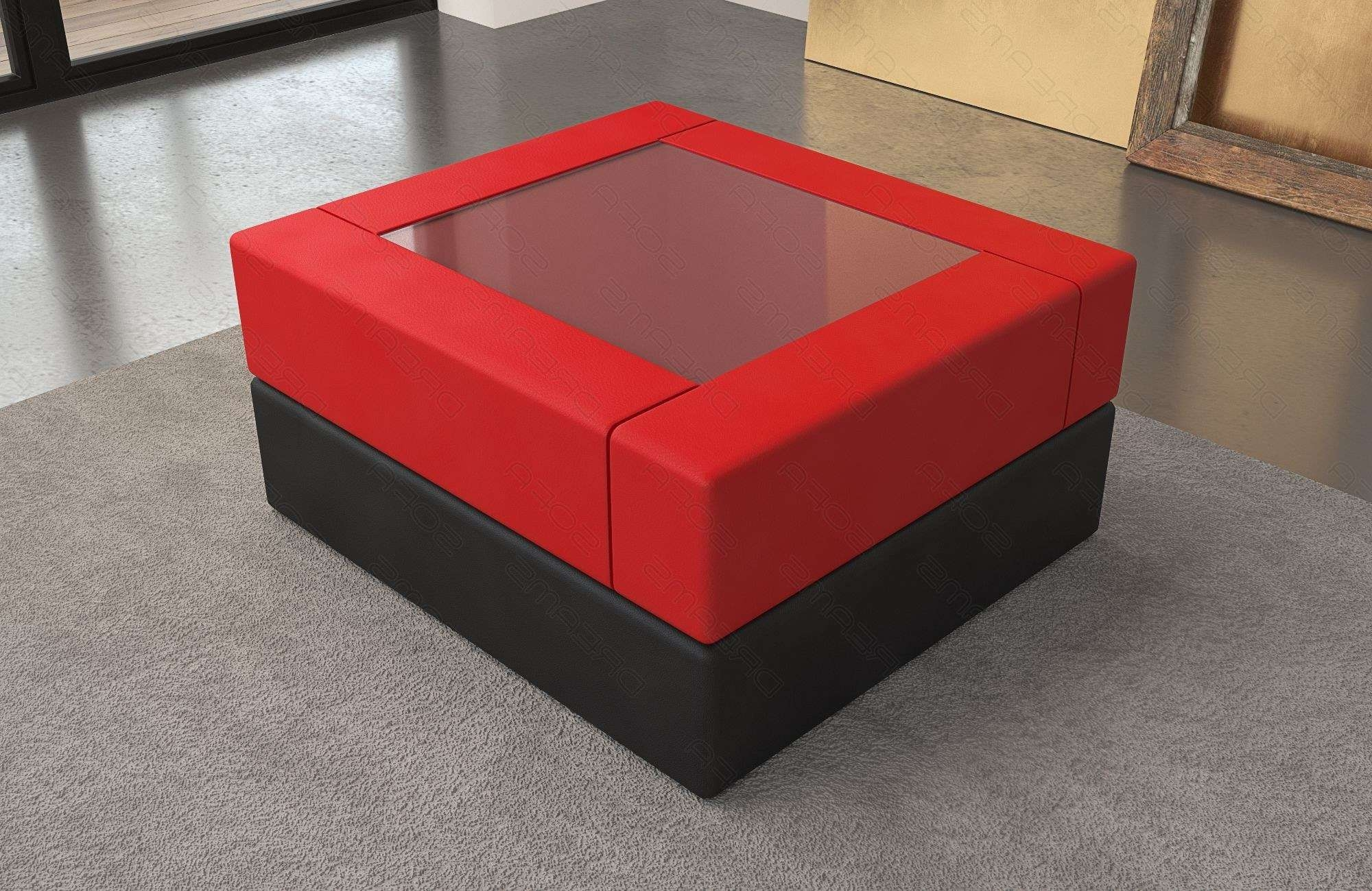 Coffee Table Leather San Diego Regarding Latest Red Coffee Tables (View 3 of 20)
