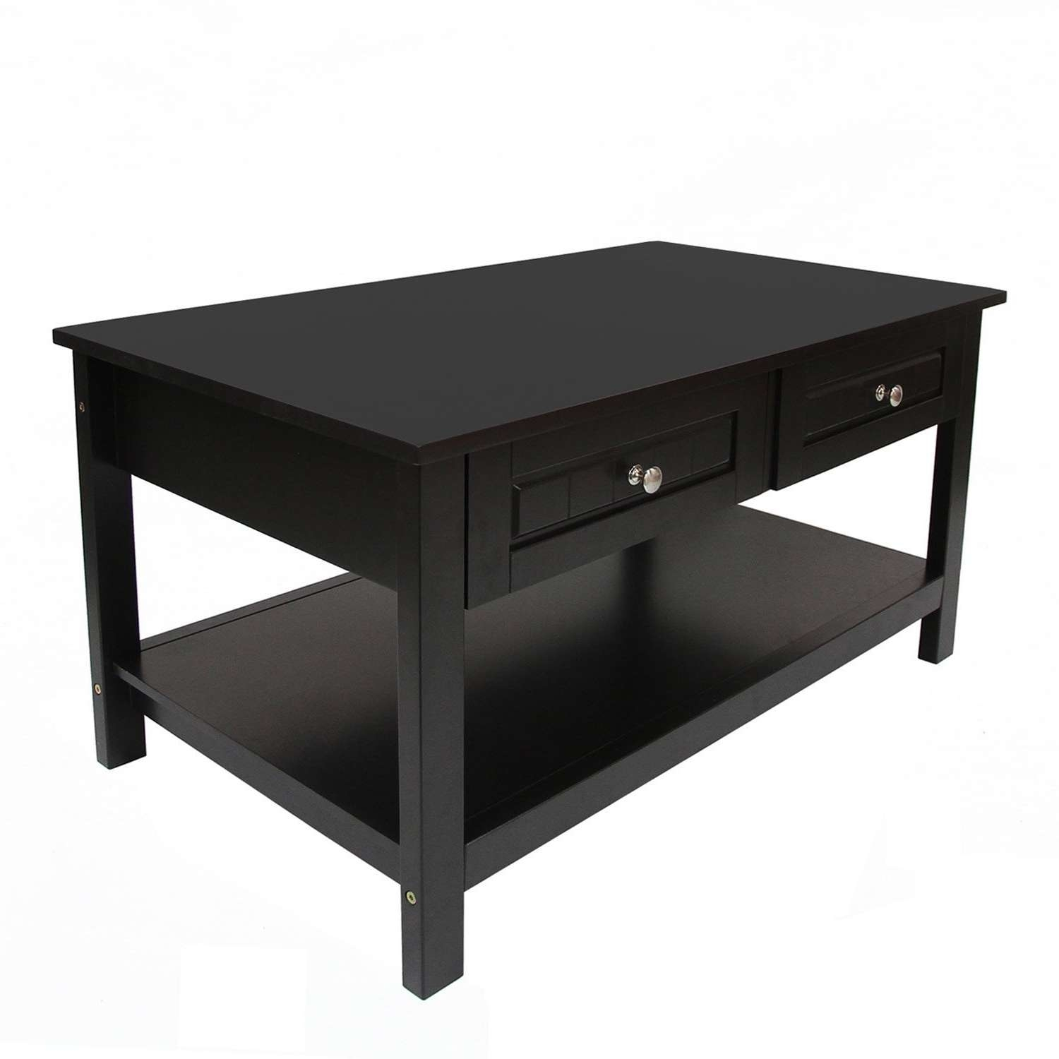 Coffee Table : Magnificent Black Coffee Table Large Square Coffee In Fashionable Black Coffee Tables With Storage (View 2 of 20)