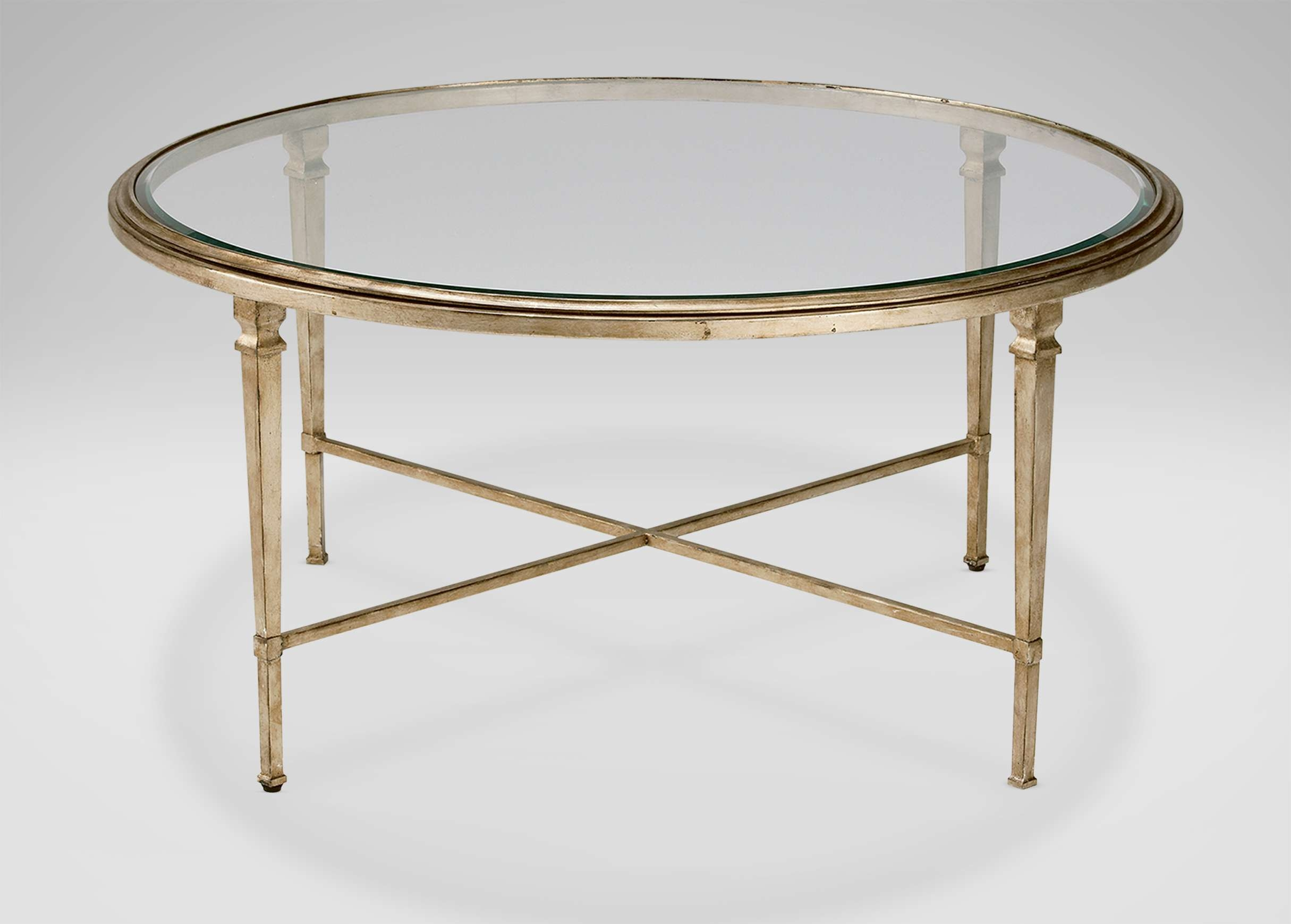 Coffee Table : Magnificent Gold Glass Coffee Table Glass Side Within Most Popular Antique Brass Glass Coffee Tables (View 9 of 20)