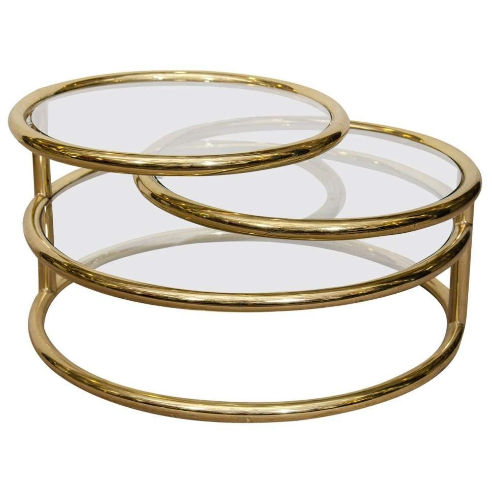 Coffee Table : Magnificent Retro Coffee Table Brass Cocktail Table With Most Current Retro Glass Coffee Tables (View 5 of 20)
