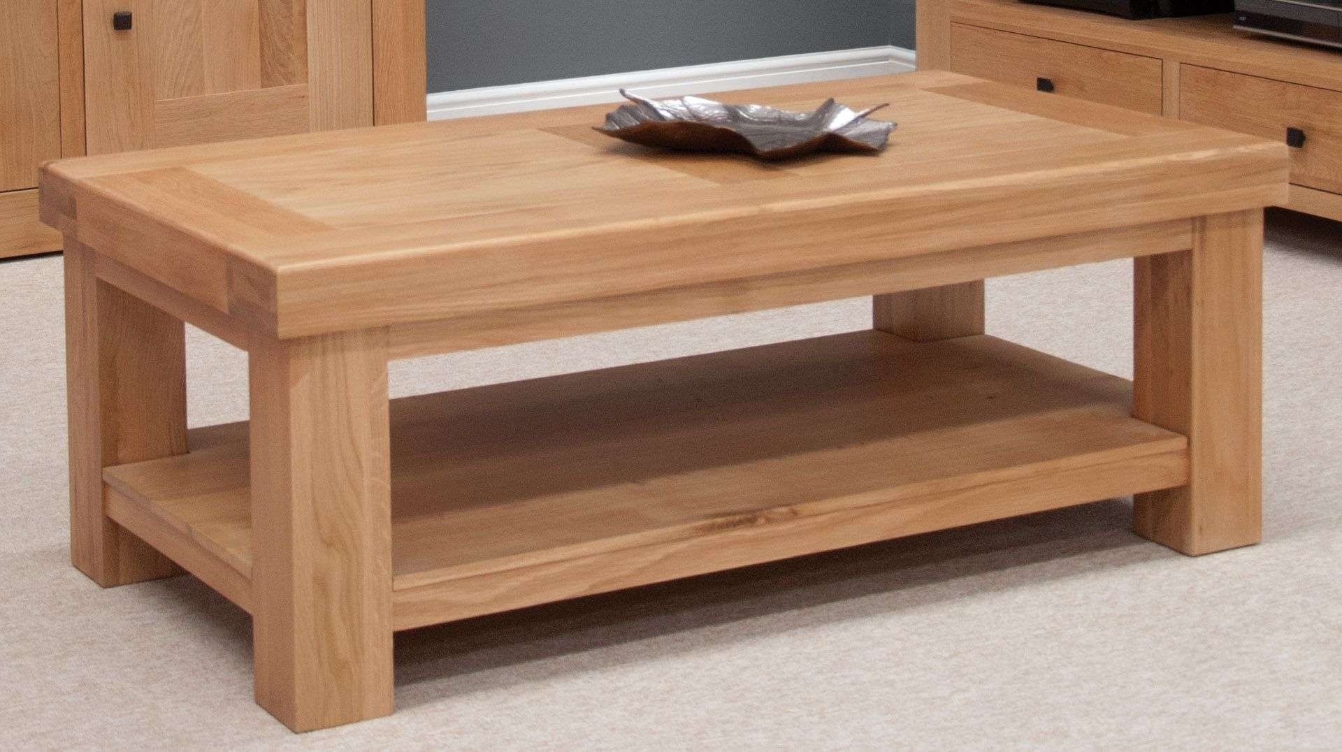 Featured Photo of Oak Coffee Tables With Shelf