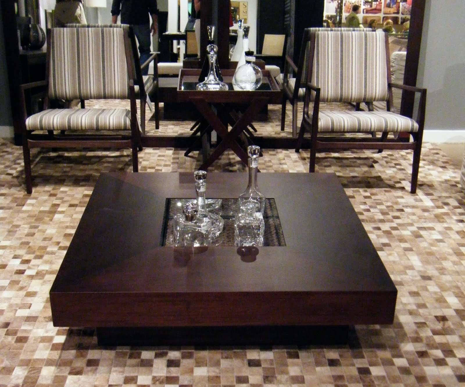 Coffee Table : Magnificent Wood And Glass Coffee Table Black Glass Inside Most Current Big Low Coffee Tables (View 5 of 20)