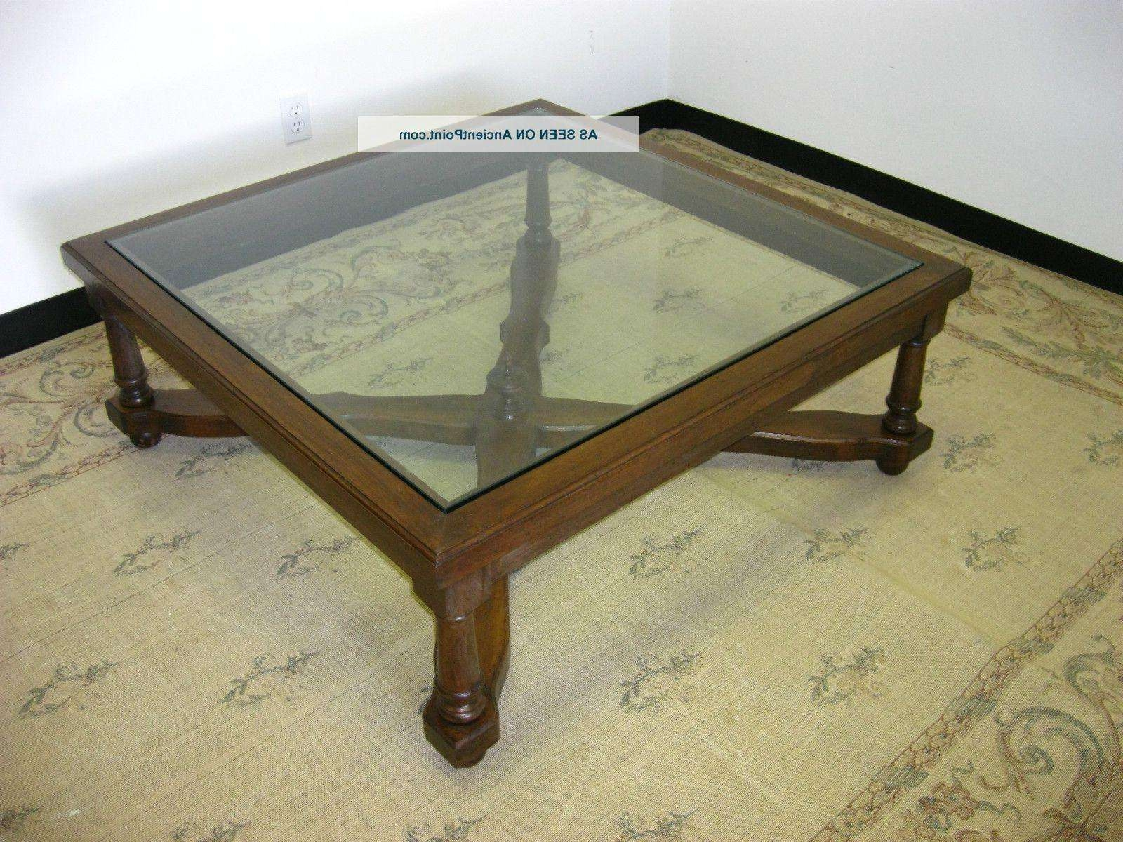 Coffee Table : Marvelous Spanish Colonial Furniture Spanish Coffee For Widely Used Vintage Glass Top Coffee Tables (View 14 of 20)
