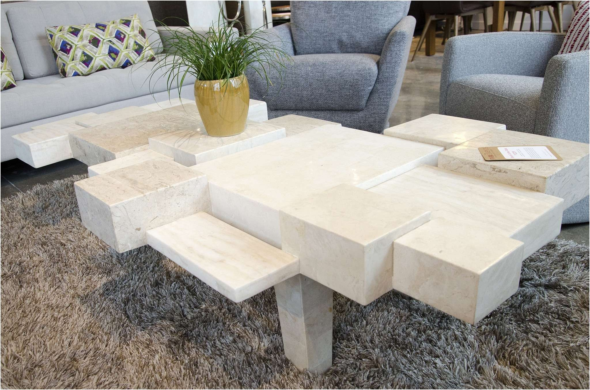 Coffee Table : Marvelous White Stone Coffee Table Lovely Coffee Within Newest Glass And Stone Coffee Table (View 4 of 20)