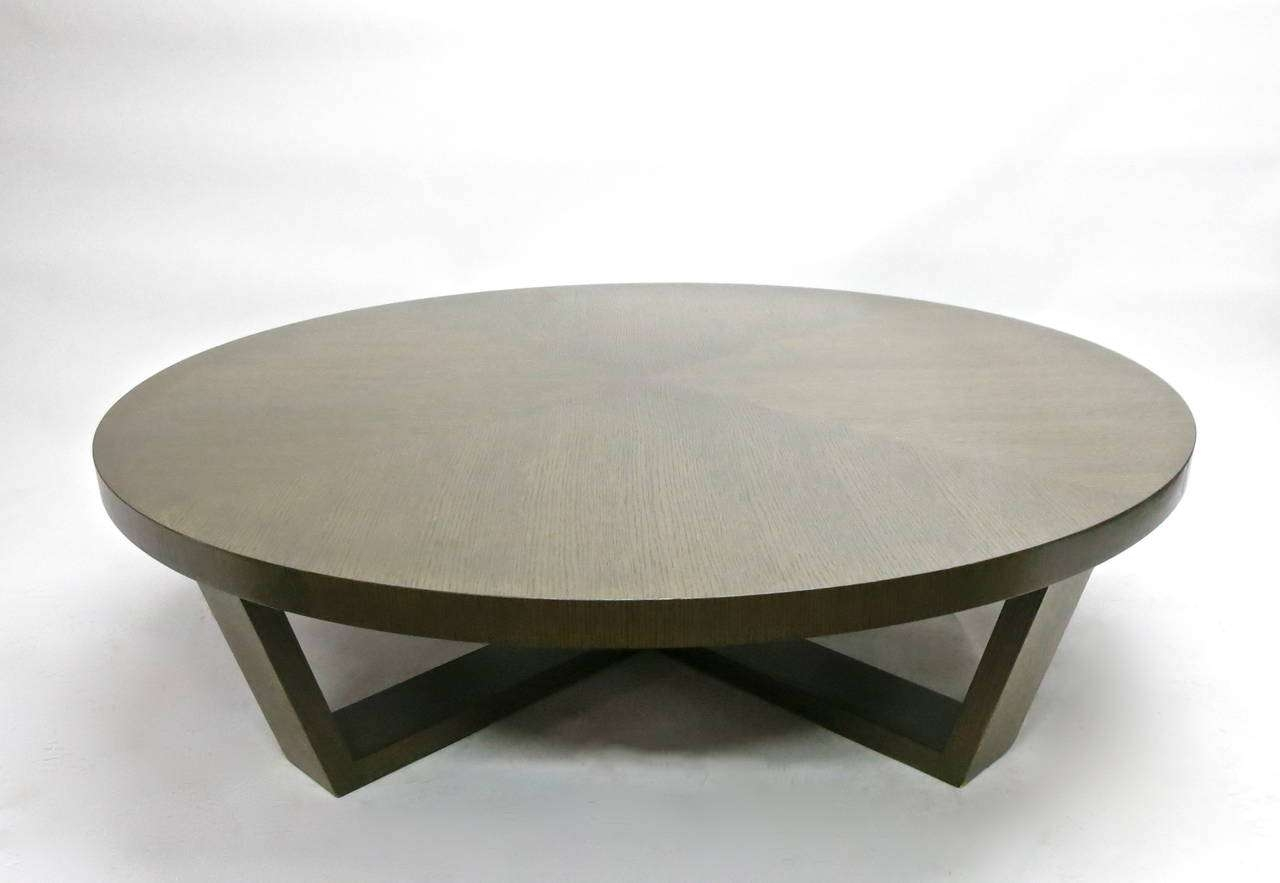 Coffee Table Metal Round Coffee Table Base Only Portable Grey Within Well  Liked Large Round Low