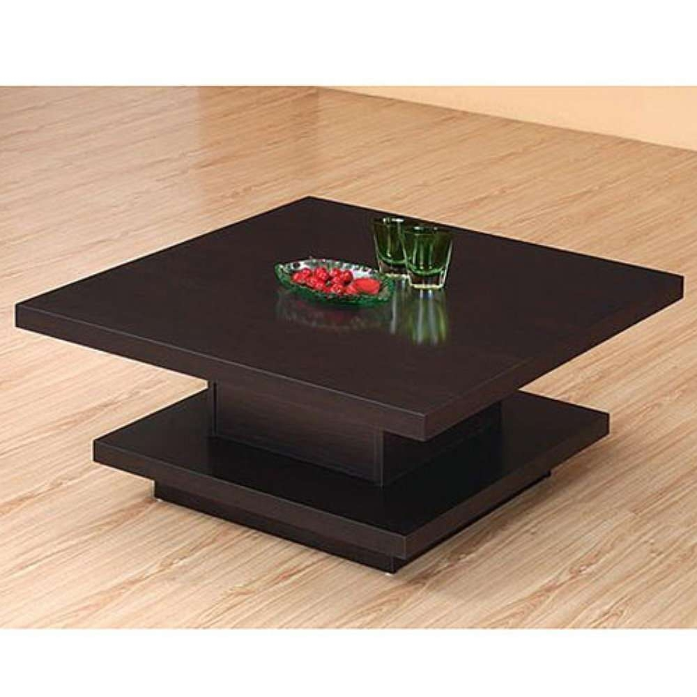Coffee Table: Minimalist Design Glass Coffee Table Design Metal Within Recent Square Black Coffee Tables (View 3 of 20)