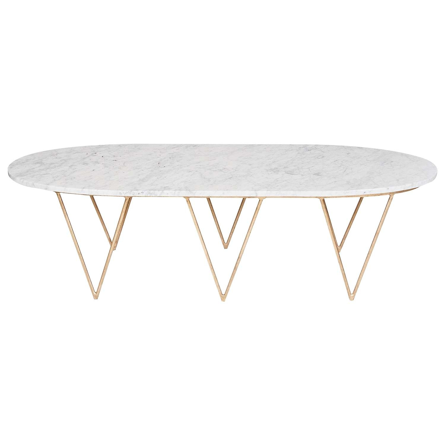 Coffee Table, Oval Coffee Table With Marble Top Oblong Coffee Inside Most Popular White Oval Coffee Tables (View 5 of 20)