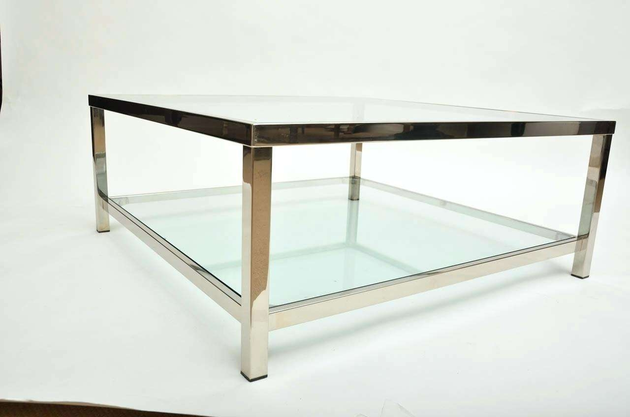 Coffee Table : Round Chrome Coffee Table Glass With In Tables Regarding Widely Used Round Chrome Coffee Tables (View 2 of 20)