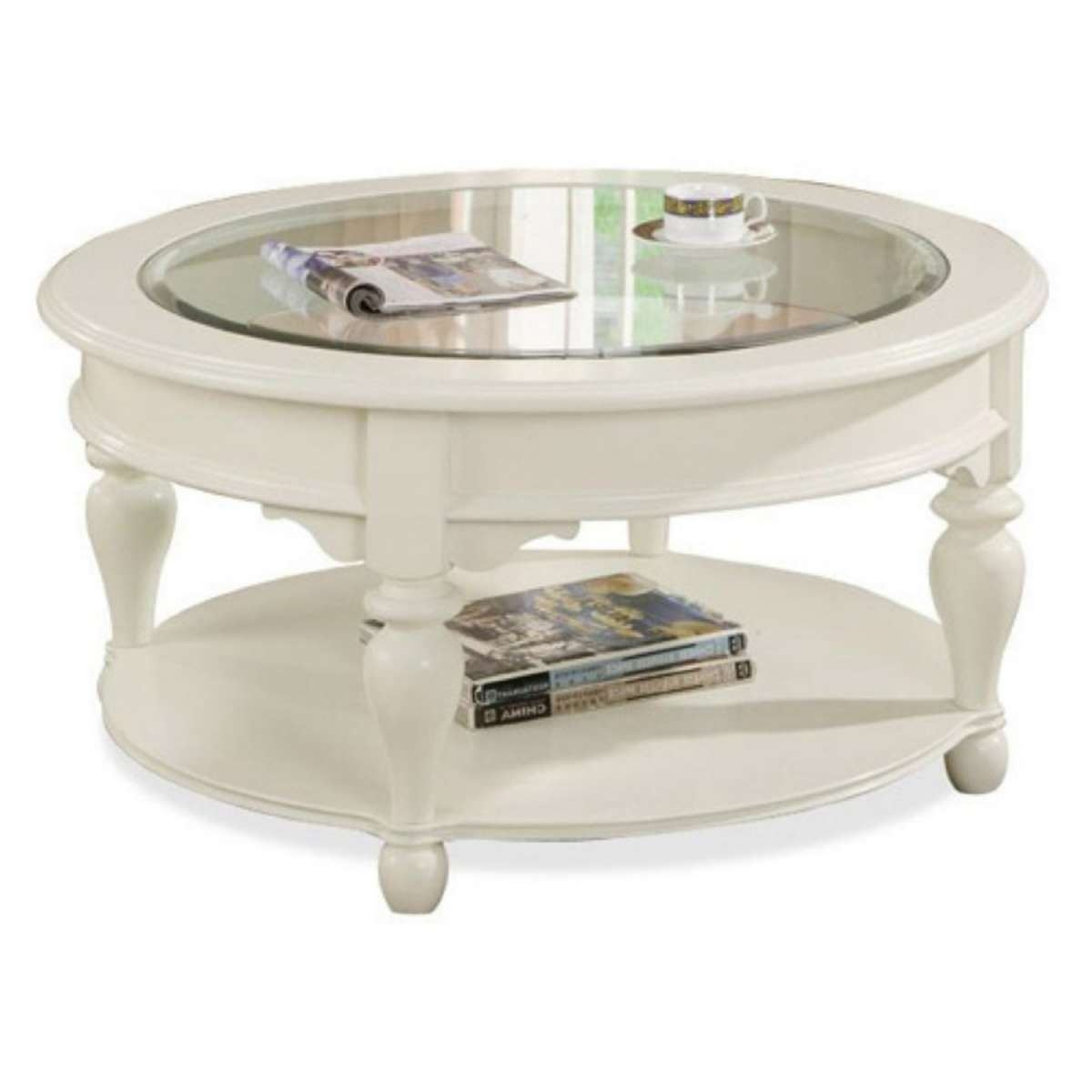 Coffee Table : Round Coffee Table Set In Wood Glass Sets Oak With Recent White Wood And Glass Coffee Tables (View 2 of 20)