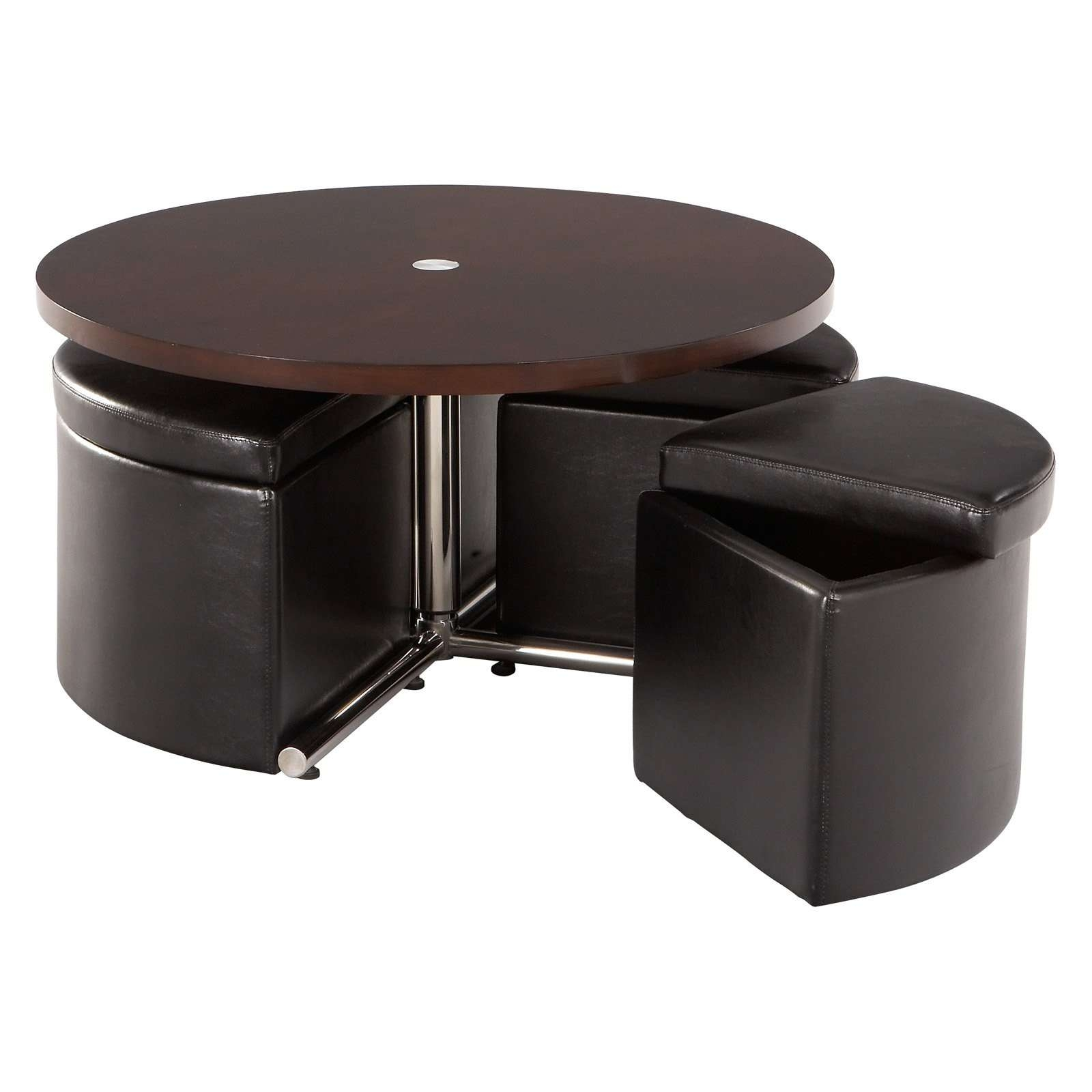 Coffee Table, Round Coffee Table With Seats Underneath The Round For Well Known Coffee Tables With Seating And Storage (View 10 of 20)
