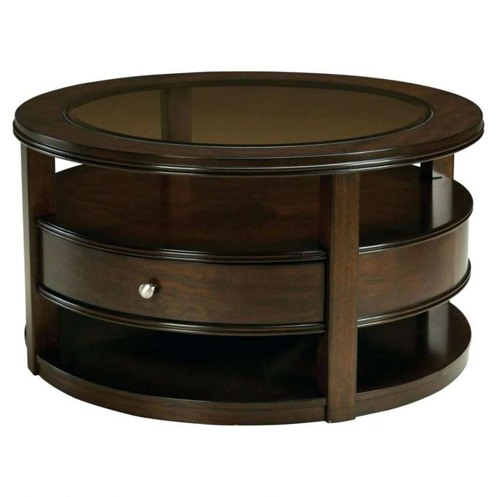 Coffee Table Round Coffee Table With Stoolsneath Tables Storage Pertaining To Famous Round Coffee Table Storages (View 9 of 20)