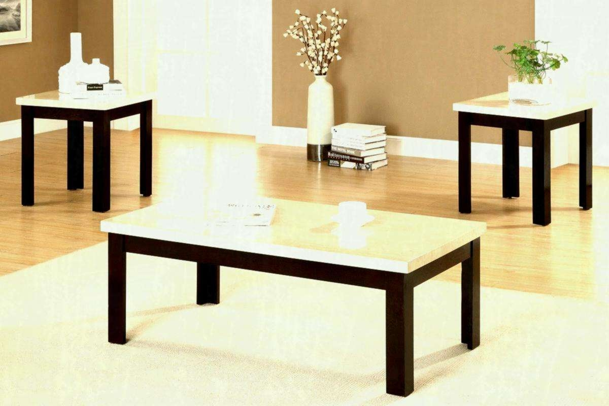 Coffee Table Sets Amazon Stairs Shape Dark Gray Wood And Glass Throughout Well Known Beige Coffee Tables (View 6 of 20)