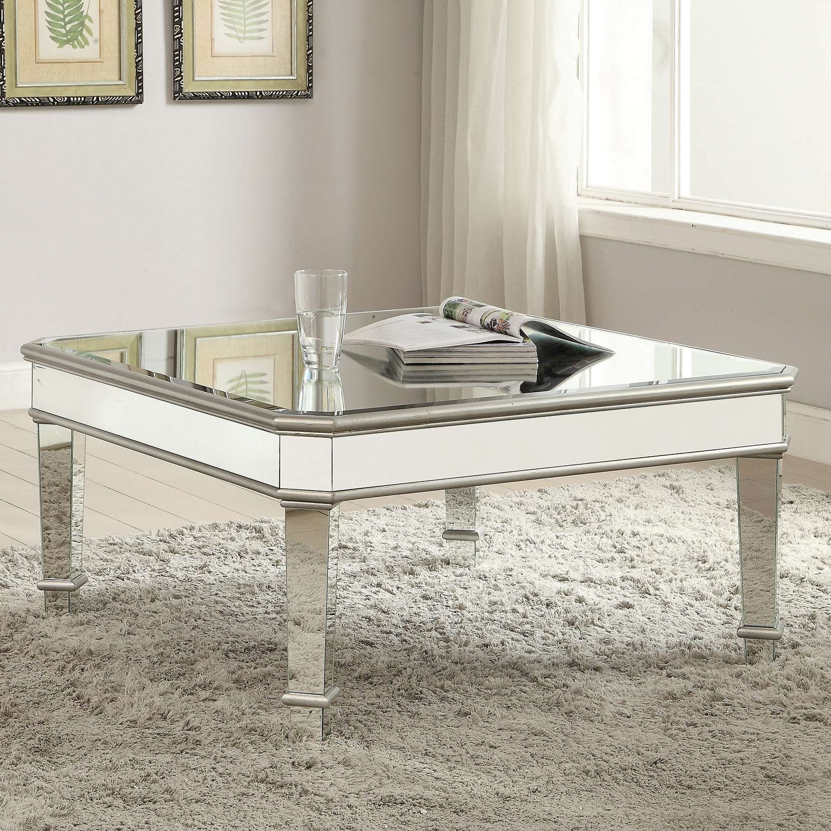 Coffee Table Silver Coffee Table Awesome With Contemporary Square Within Well Liked Oval Mirrored Coffee Tables (View 6 of 20)