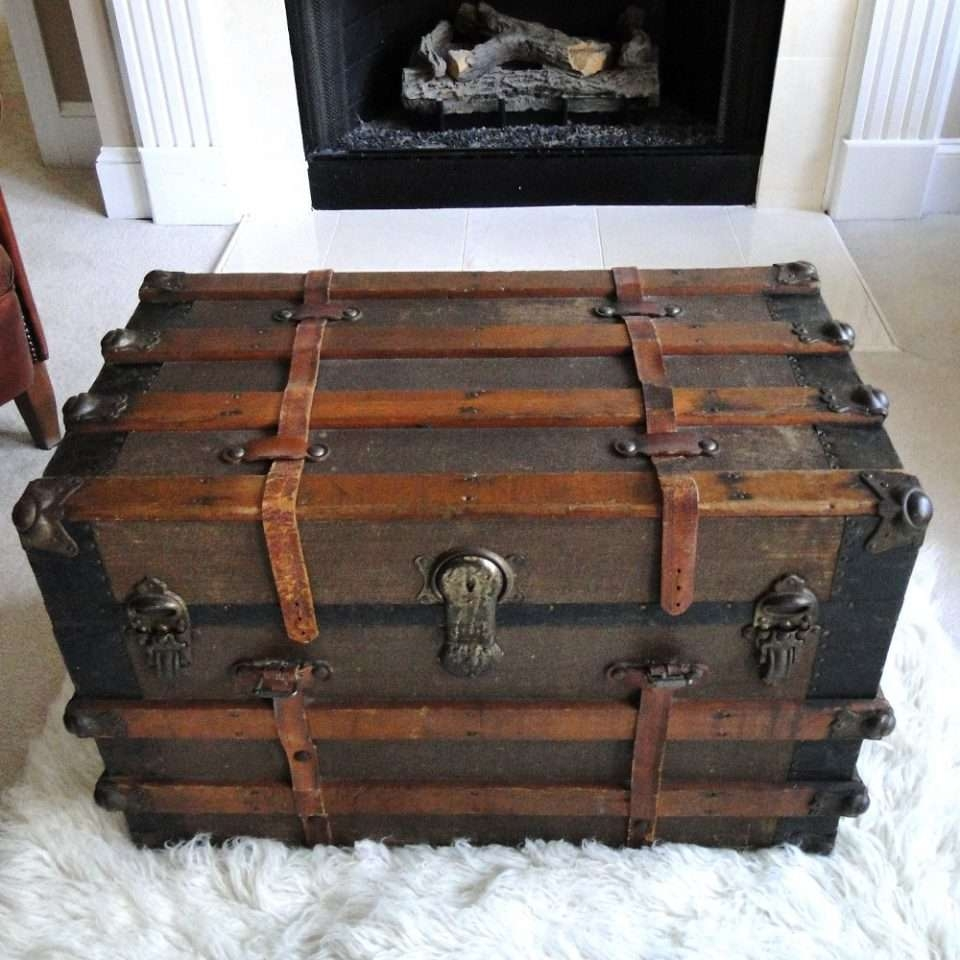 Coffee Table : Square Coffee Table Chest Square Storage Trunk For Best And Newest Large Trunk Coffee Tables (View 20 of 20)