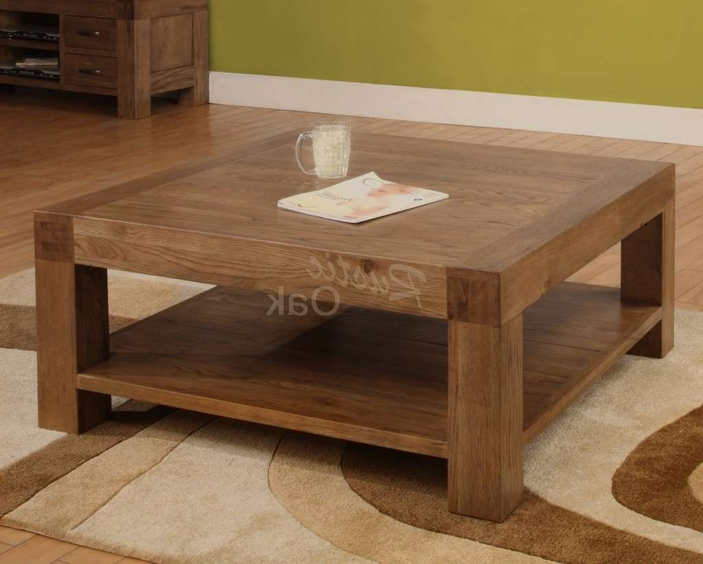 Coffee Table Square Regarding Best And Newest Low Oak Coffee Tables (View 4 of 20)