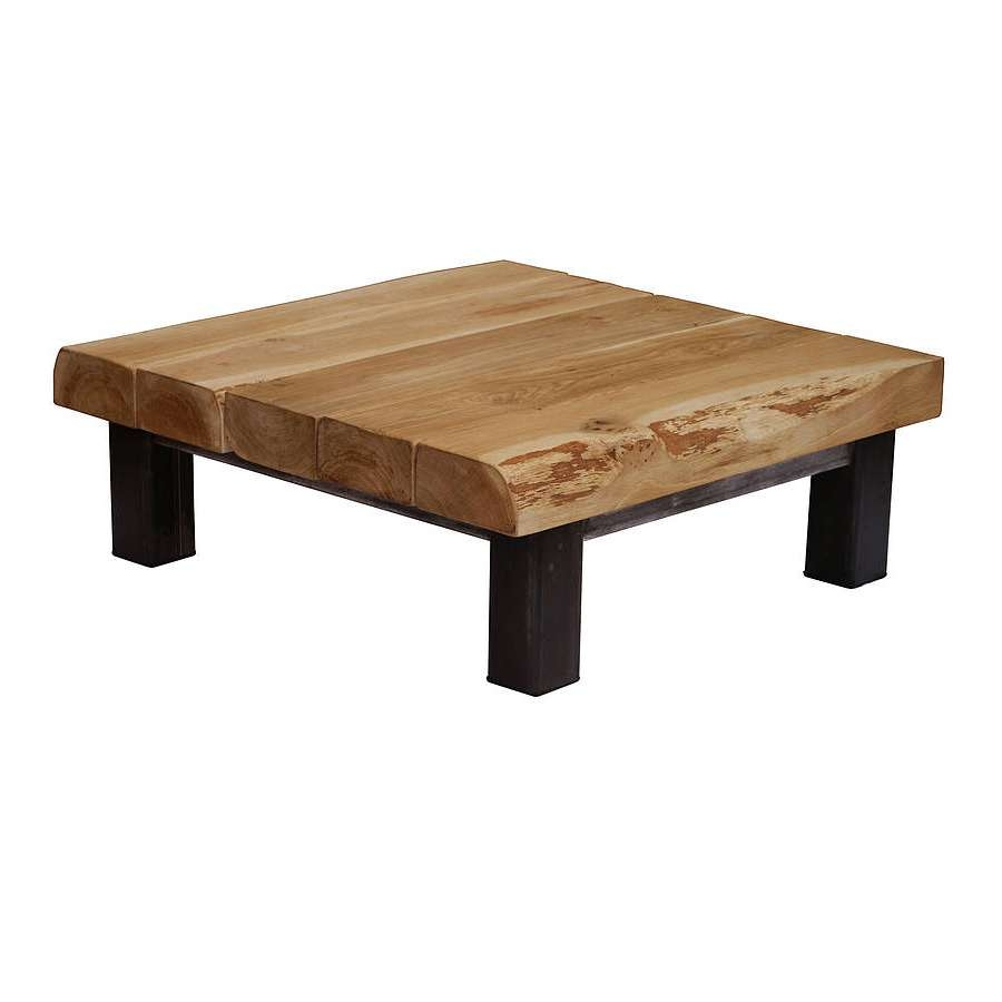 Coffee Table : Square Timber Coffee Table Small Square Wood Coffee With Regard To Well Known Hardwood Coffee Tables With Storage (View 5 of 20)