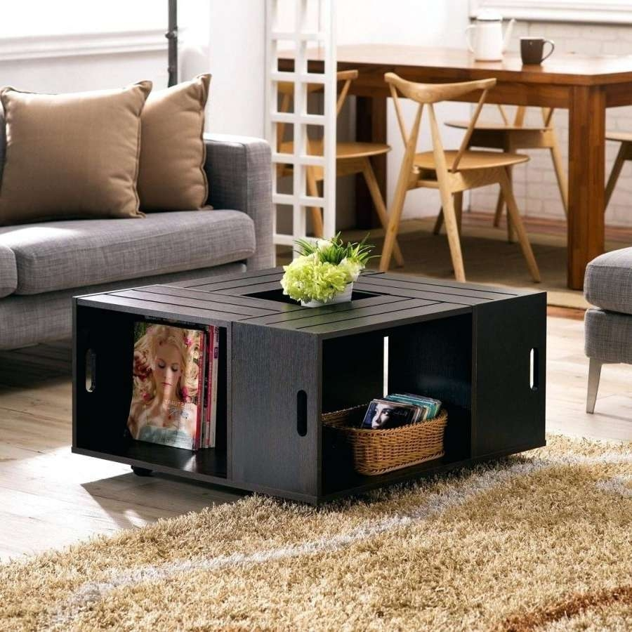 Coffee Table : Storage Coffee Table Ideas Furniture Black Modern Throughout Newest Square Storage Coffee Tables (View 17 of 20)