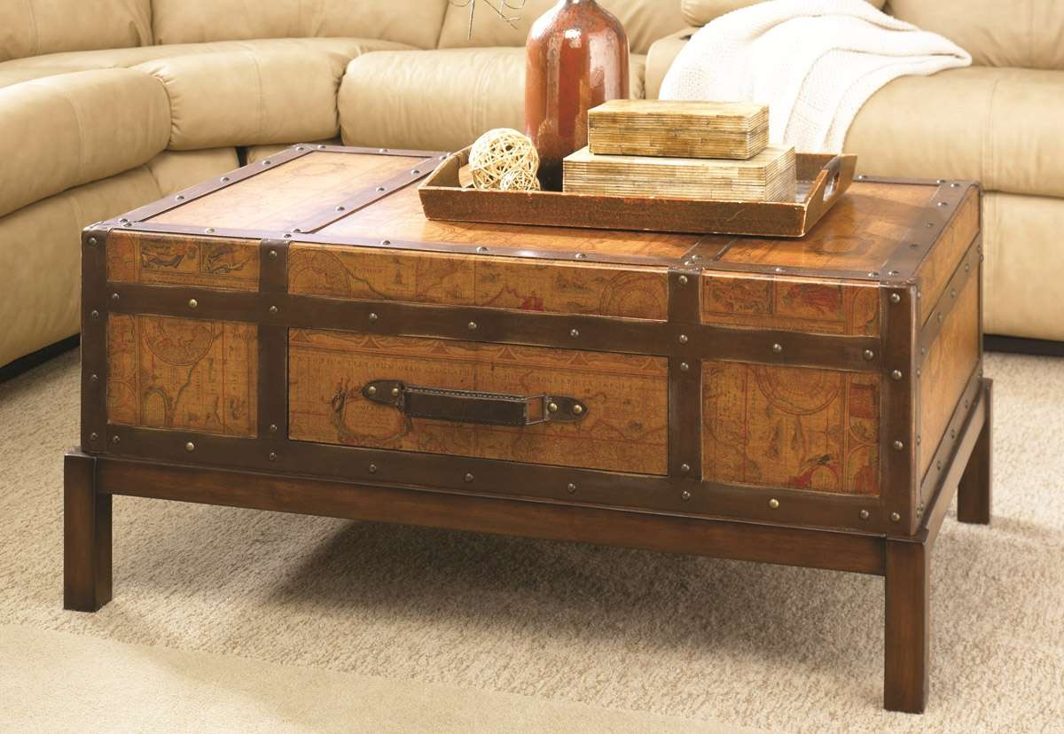 Coffee Table, Trunk Coffee Tables Trunk End Table: Amazing Chest Intended For Most Recent Trunk Chest Coffee Tables (View 3 of 20)