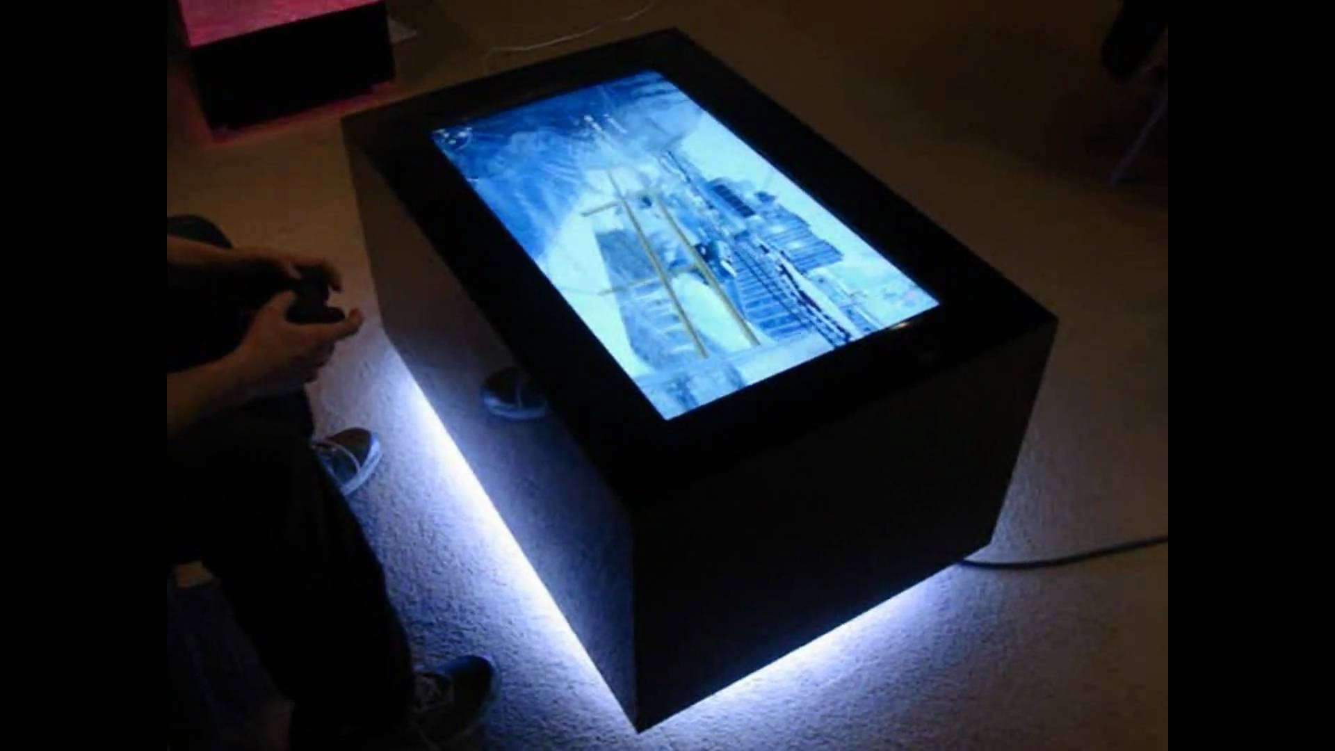 Coffee Table, Video Table Led Coffee Table Led Coffee Table Kit Regarding Preferred Led Coffee Tables (View 4 of 20)