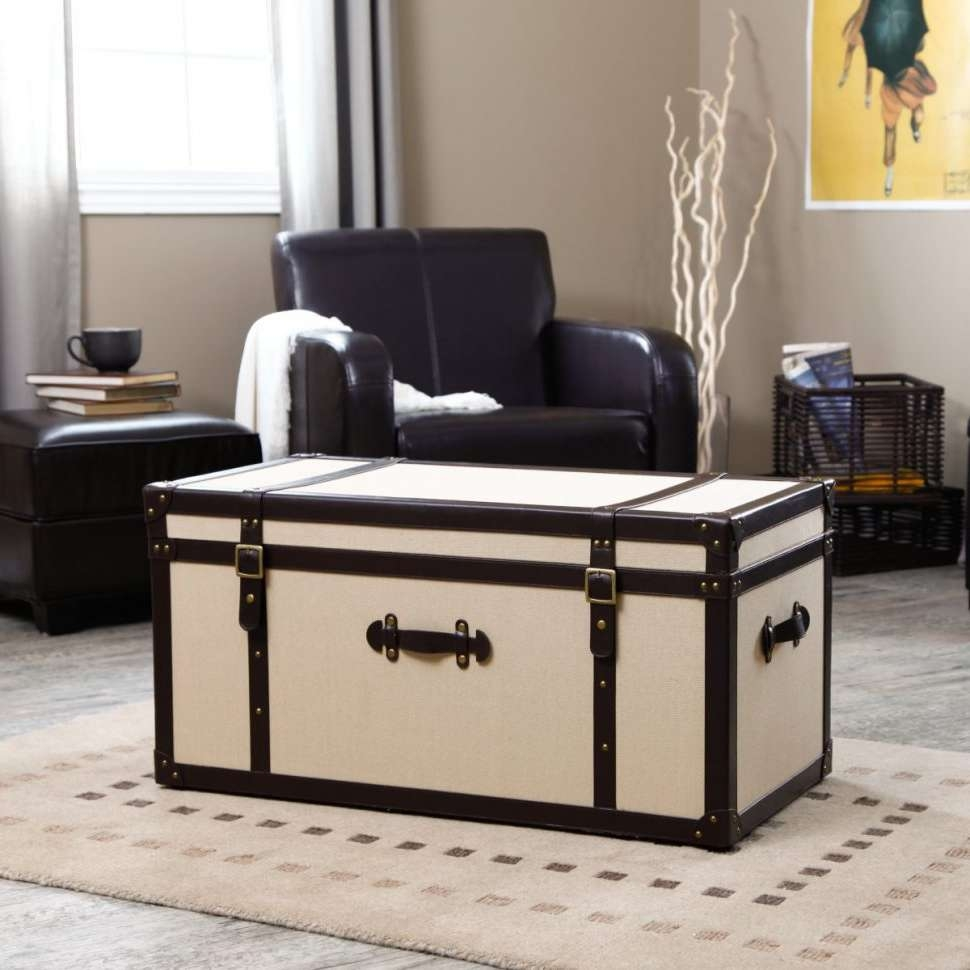 Coffee Table : Wicker Trunk Coffee Table Silver Trunk Coffee Table Within 2017 Silver Trunk Coffee Tables (View 1 of 20)