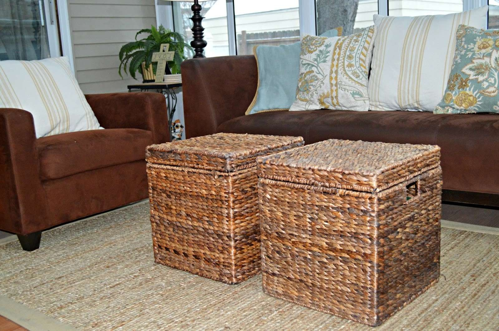 Coffee Table With Basket Storage (View 5 of 20)