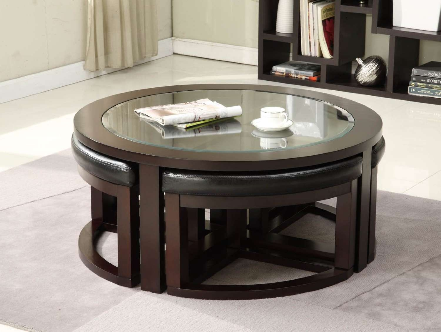Coffee Table With Chair Stunning Round Coffee Table With Wedge Within Well Known Coffee Table With Chairs (View 4 of 20)
