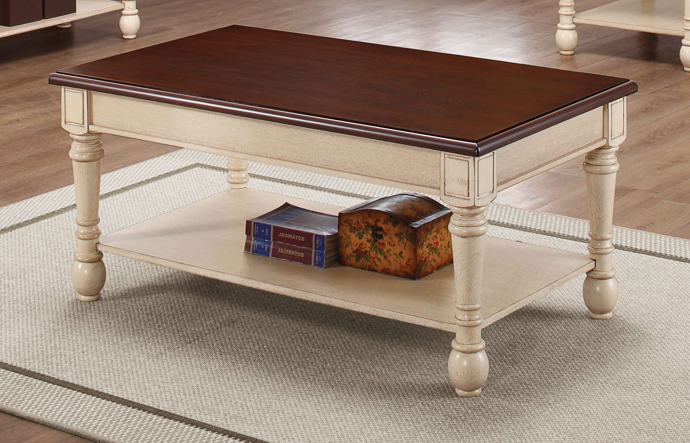 Coffee Table : Wonderful All White Coffee Table Large White Coffee Inside 2017 Dark Brown Coffee Tables (View 20 of 20)