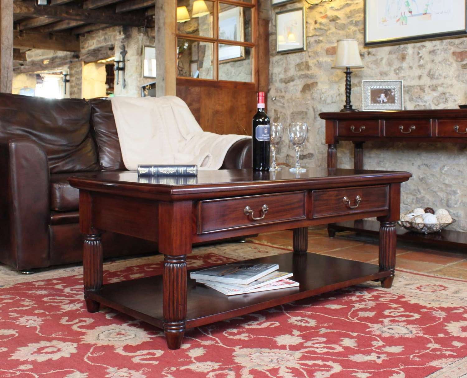 Coffee Table : Wonderful Living Room Furniture Sets Pine Coffee In Famous Mahogany Coffee Tables (View 15 of 20)