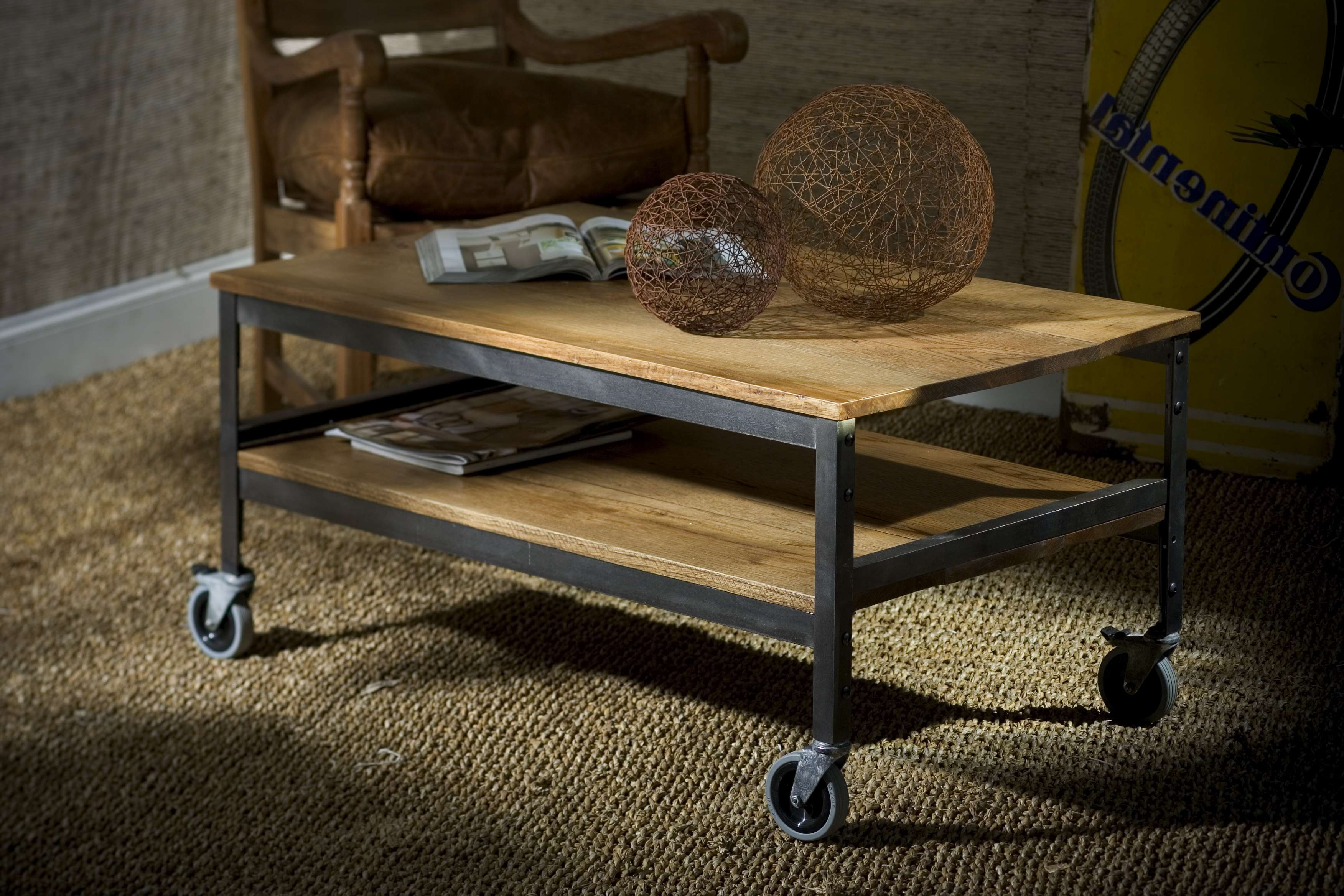 20 Best Ideas of Rustic Coffee Table With Wheels