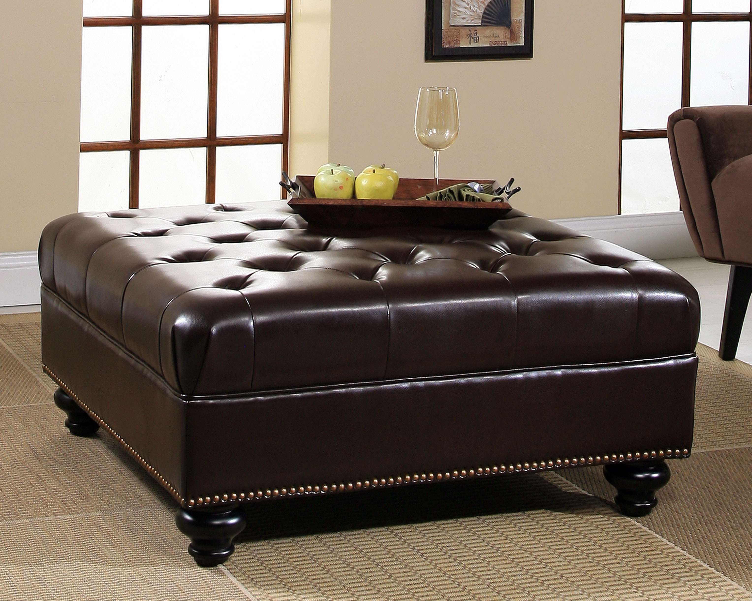 Featured Photo of Brown Leather Ottoman Coffee Tables