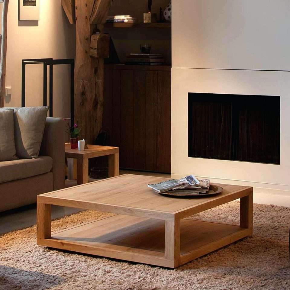 Coffee Table : Wood Living Room Coffee Table Square White Wood In Most Up To Date Extra Large Square Coffee Tables (View 5 of 20)