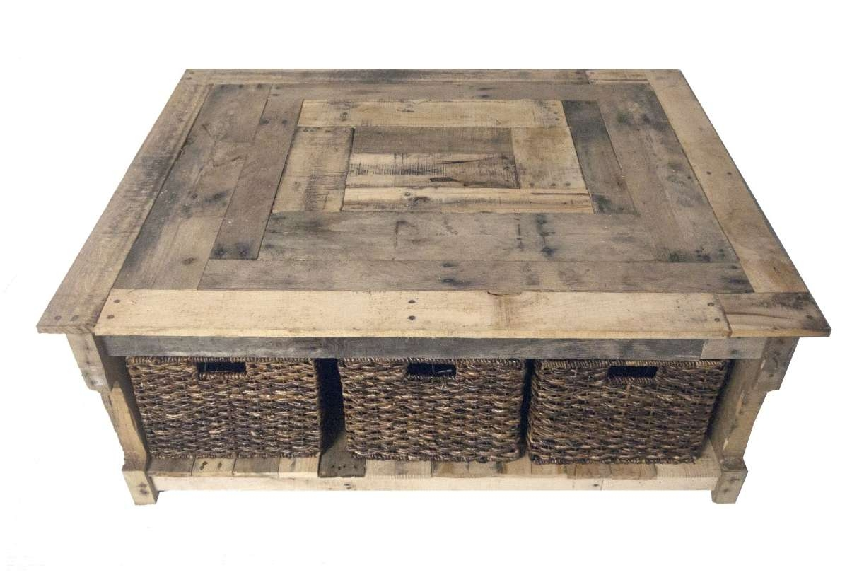 Featured Photo of Coffee Table With Wicker Basket Storage