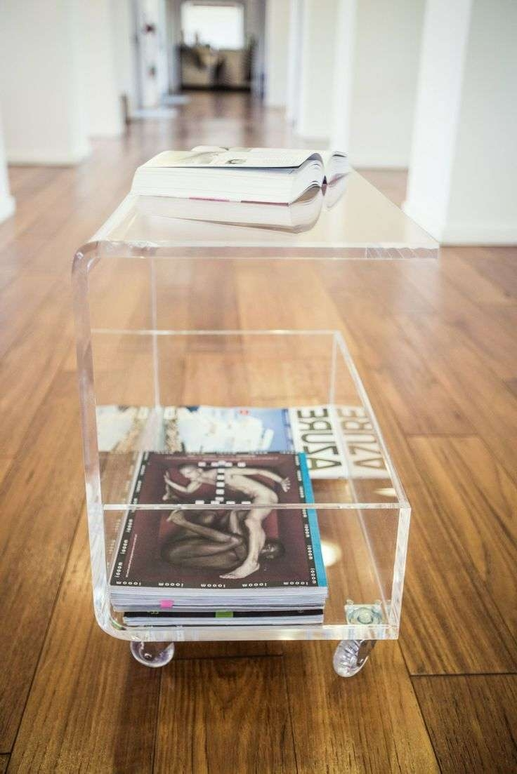 Coffee Tables : Acrylic Coffee Tables Perspex Side Table' Clear Pertaining To Well Known Acrylic Coffee Tables With Magazine Rack (View 9 of 20)