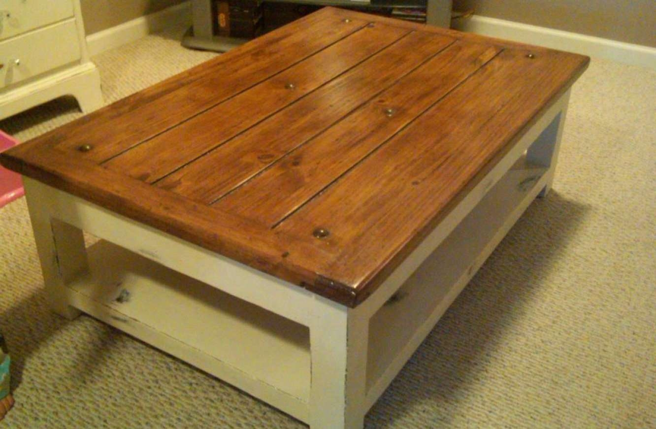 Coffee Tables : Amazing White Distressed Coffee Table Designs Intended For Most Recently Released White And Brown Coffee Tables (View 4 of 20)