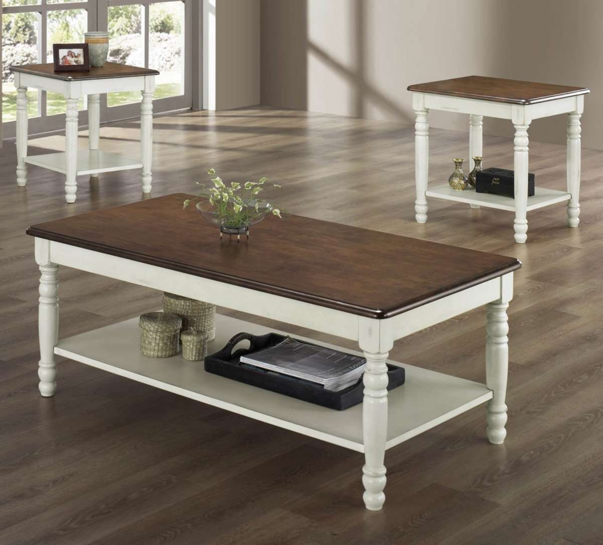 Coffee Tables : Antique Coffee Tables White And End Brown Side Within Trendy White And Brown Coffee Tables (View 2 of 20)