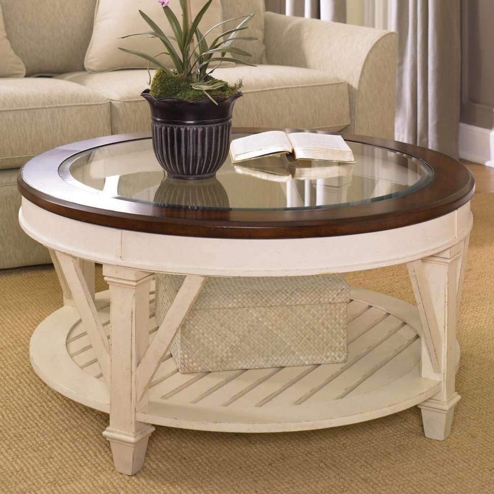 Coffee Tables : Antique White Round Coffee Table Material Slate Inside Favorite White Circle Coffee Tables (View 11 of 20)