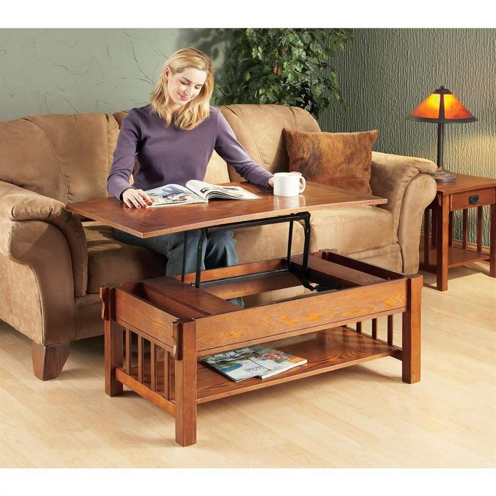Coffee Tables : Arts And Crafts Style Coffee Table Plans Solid Regarding Most Popular Lift Top Oak Coffee Tables (View 17 of 20)