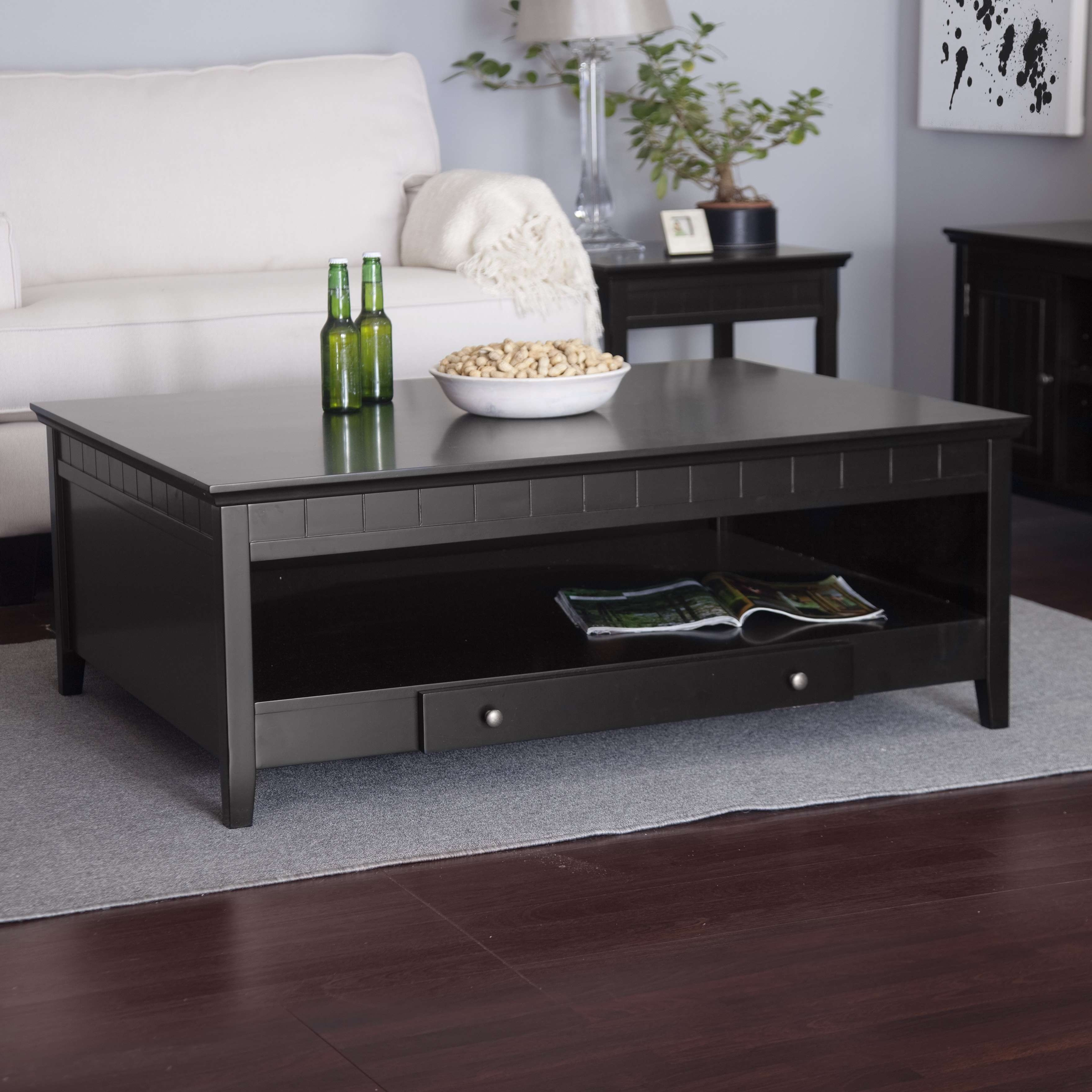 Coffee Tables : Ashley Furniture Delormy Piece Coffee Table Set With Regard To Recent Big Black Coffee Tables (View 3 of 20)