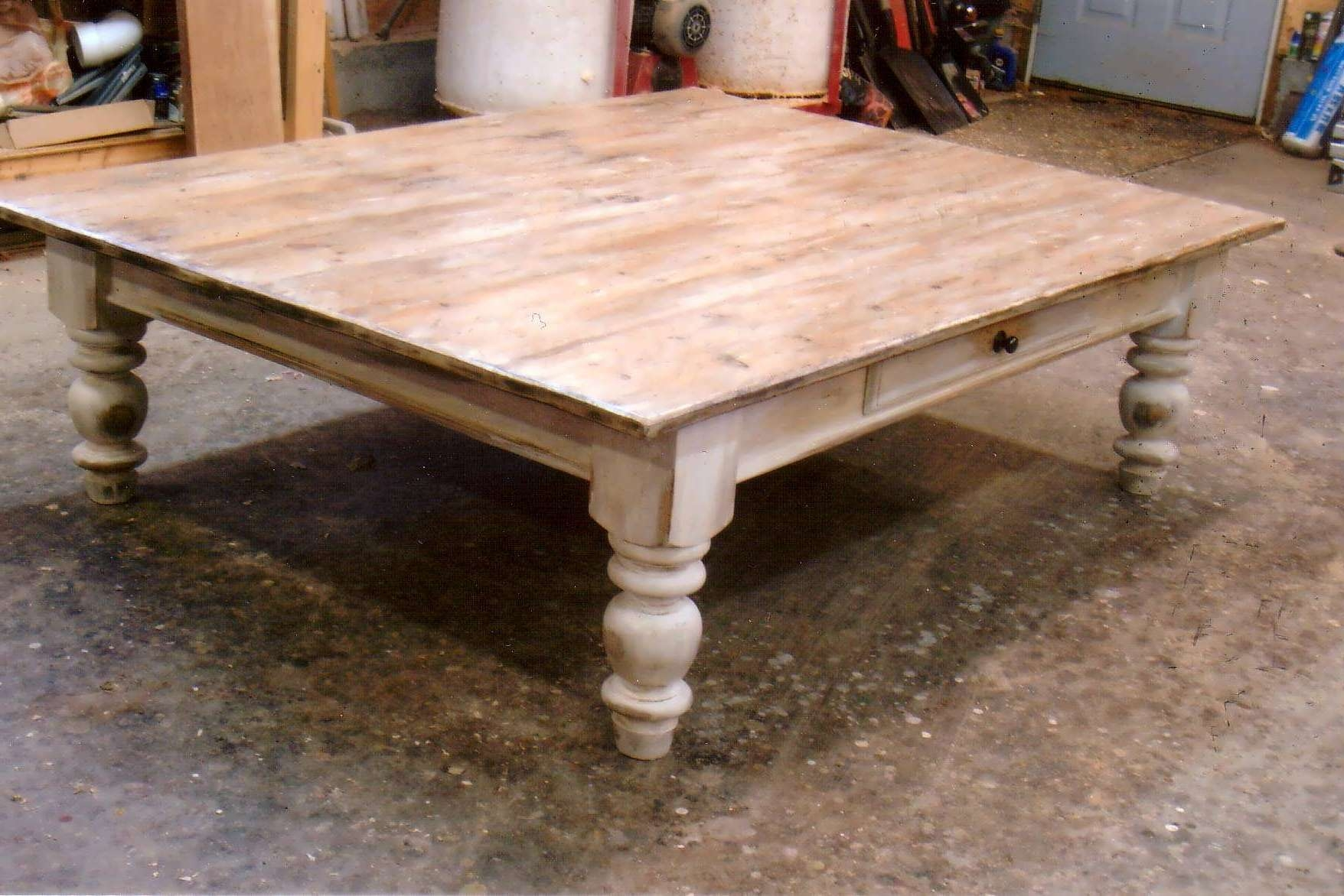 Coffee Tables : Astonishing Rustic Wood Coffee Table White Glass Throughout Favorite Pine Coffee Tables With Storage (View 9 of 20)