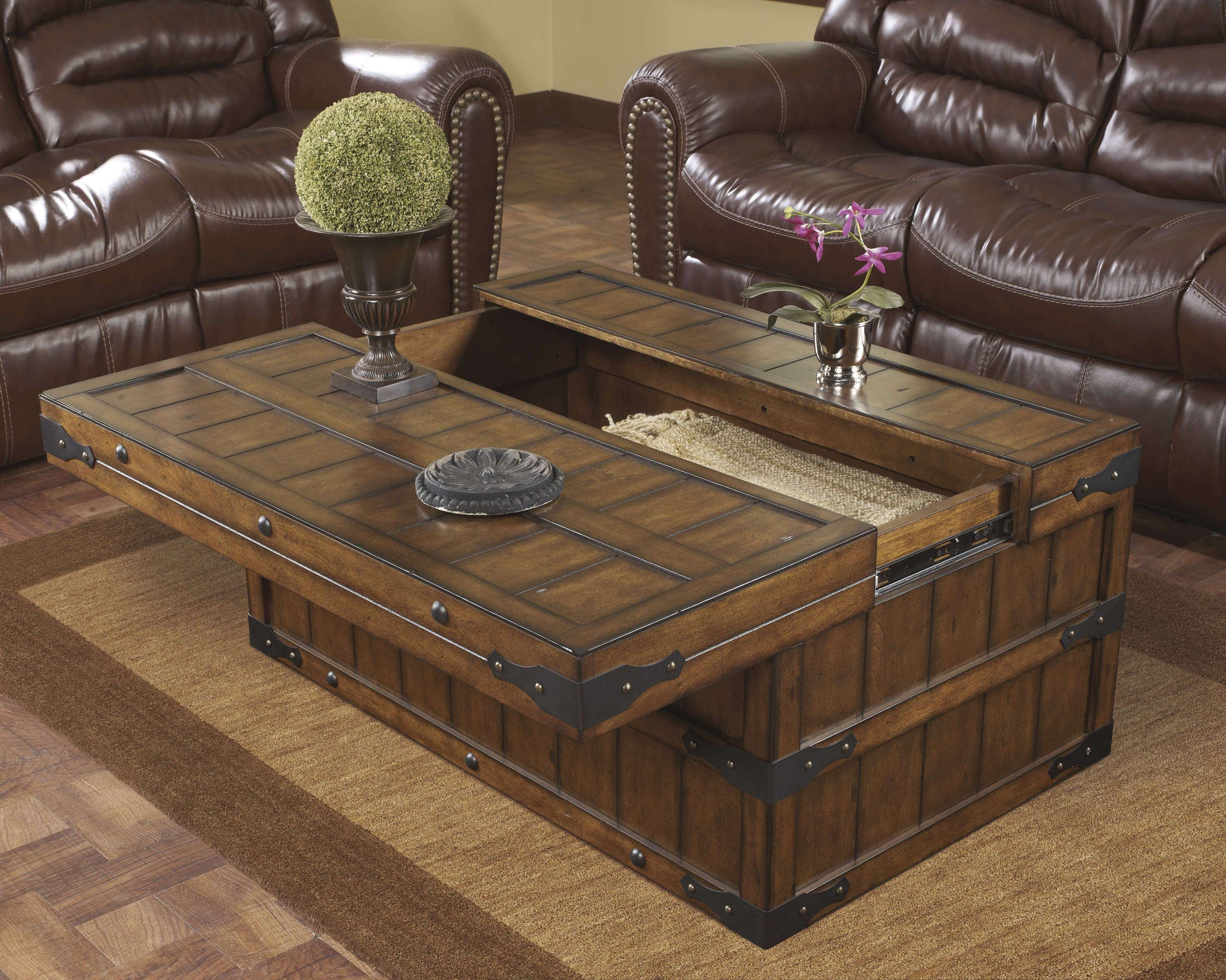 Coffee Tables : Beautiful Large Square Coffee Table With Drawers Pertaining To Latest Large Coffee Tables With Storage (View 11 of 20)