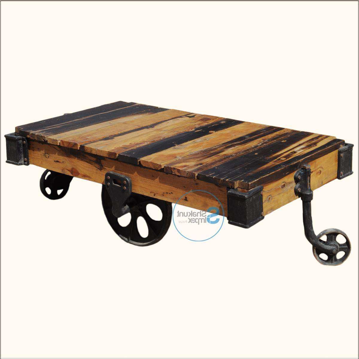 Coffee Tables : Beautiful Make A Rustic Coffee Table With Wheels In Newest Rustic Coffee Table With Wheels (View 7 of 20)