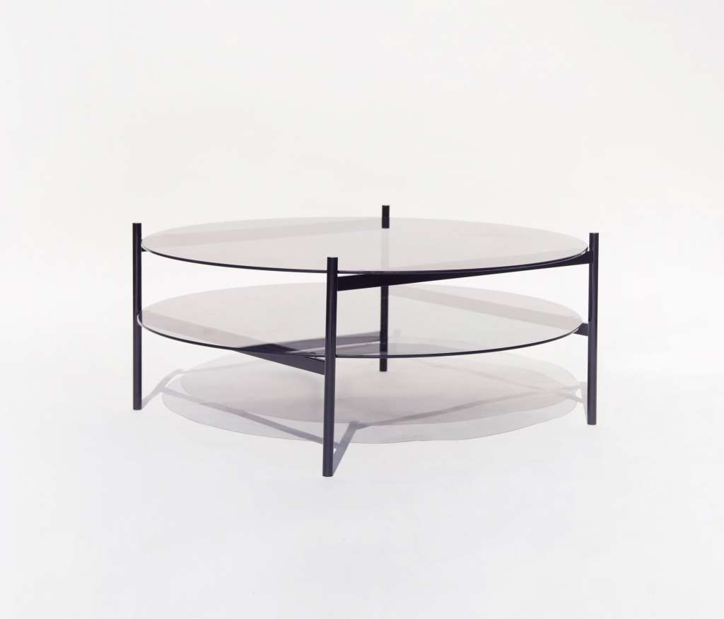 Coffee Tables : Beautiful White Side Table Round Glass Coffee For Most Recent Glass Coffee Table With Shelf (View 10 of 20)