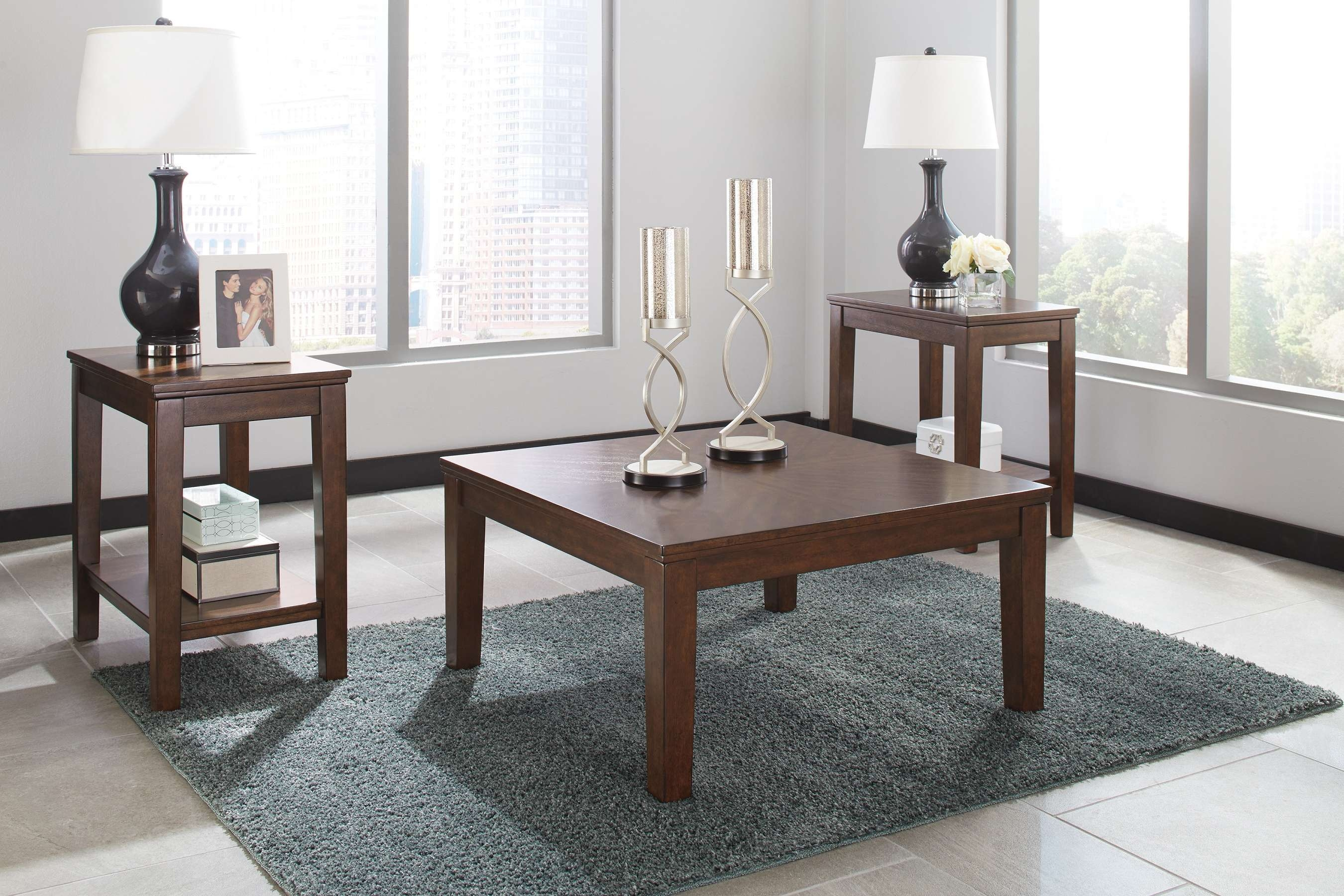 Coffee Tables : Big Lots Corner Fireplace Cheap End Tables Amazon Pertaining To Best And Newest Dark Brown Coffee Tables (View 6 of 20)
