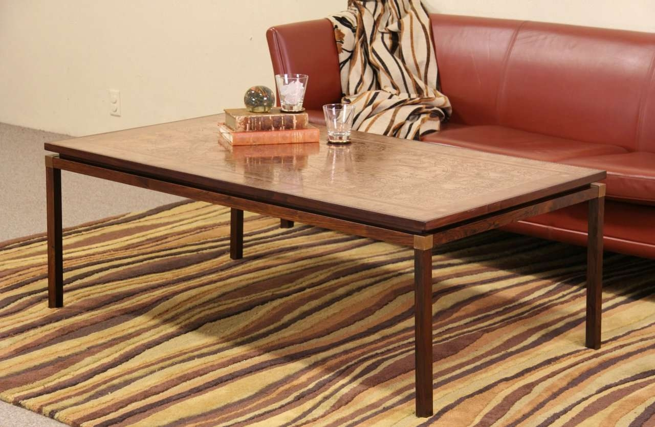 Coffee Tables : Birch Coffee Table With Baskets Huge Making Oak With Widely Used Coffee Tables With Clock Top (View 9 of 20)