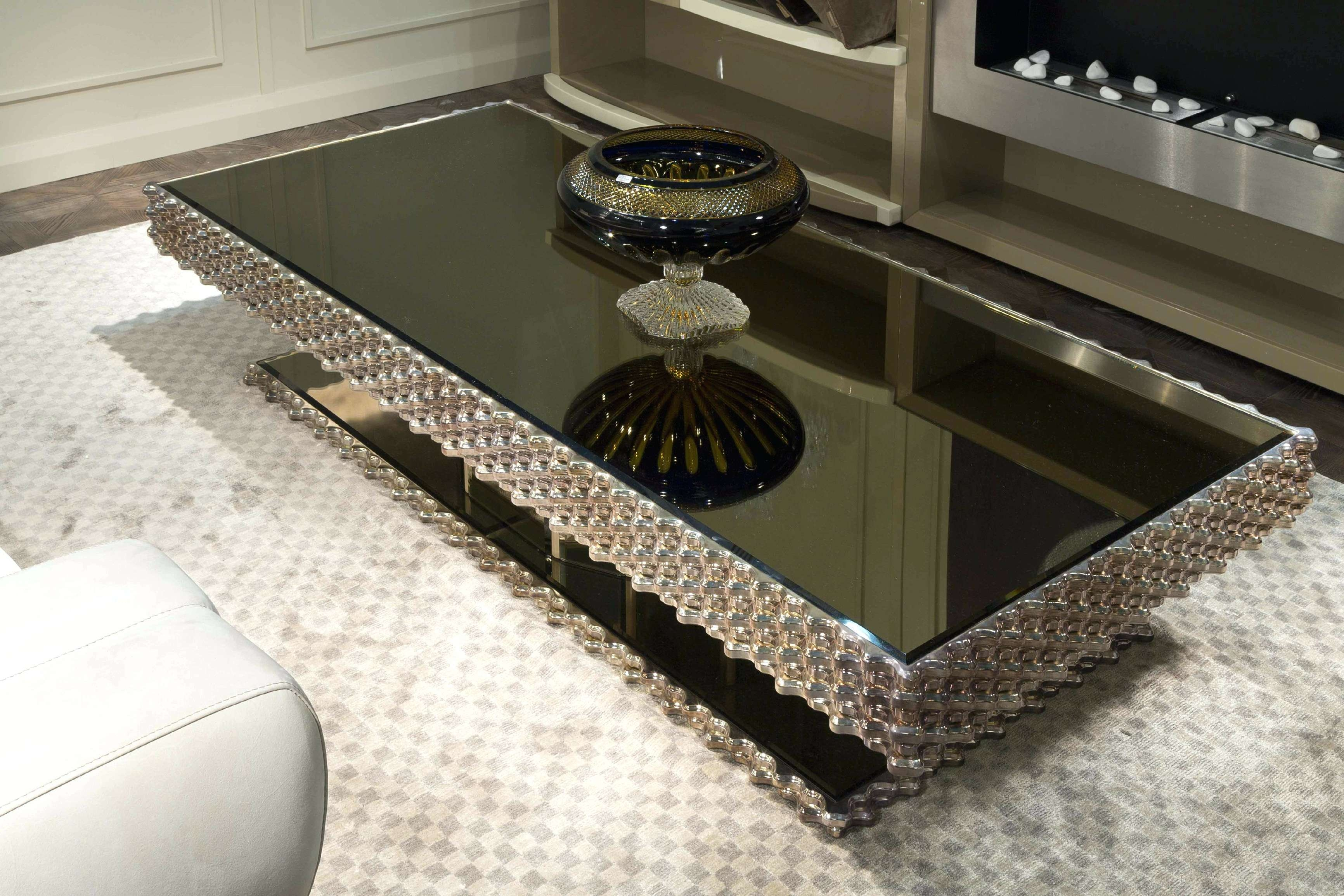 Coffee Tables : Black Mirrored Glass Bedside Table Small Mirror Inside Best And Newest Mirror Glass Coffee Table (View 3 of 20)