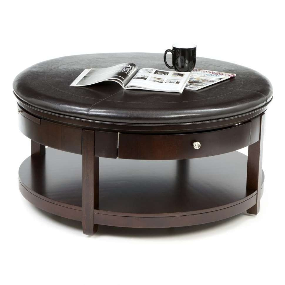 Coffee Tables : Black Wooden Coffee Table With Drawers Small Pertaining To Well Known Round Coffee Tables With Drawer (View 2 of 20)