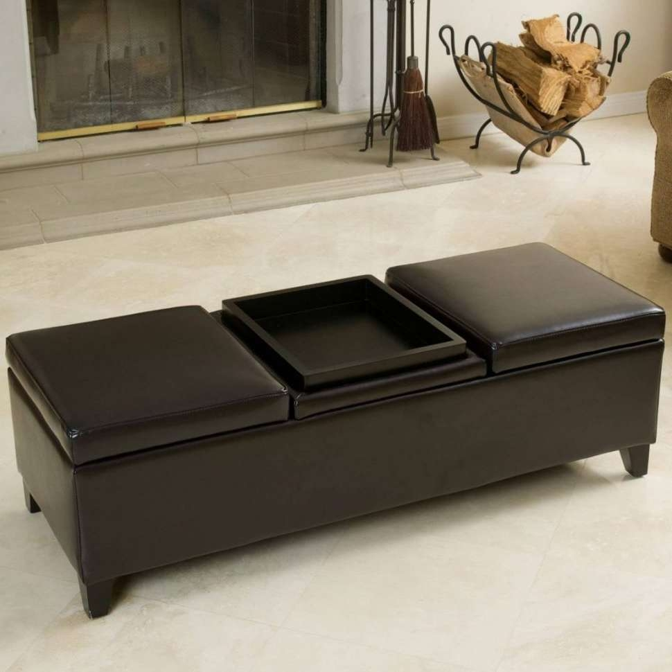 Coffee Tables : Blue Storage Ottoman Bench Tufted Footstool Grey Intended For Popular Footstool Coffee Tables (View 7 of 20)