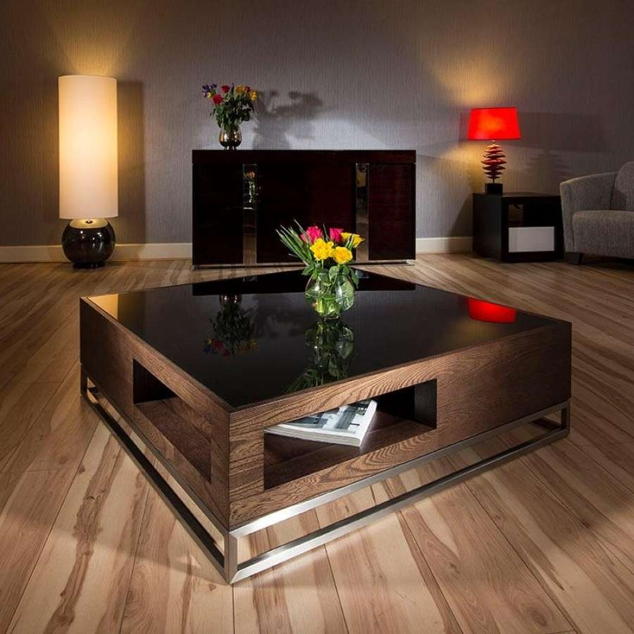 Coffee Tables : Breathtaking Big Square Coffee Tables On Home Regarding Favorite Big Black Coffee Tables (View 9 of 20)