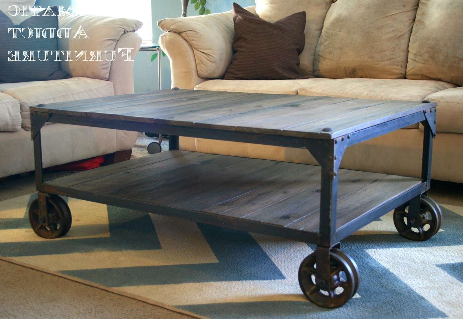 Coffee Tables : Breathtaking Diy Industrial Coffee Table World Intended For Best And Newest Aiden Coffee Tables (View 6 of 20)